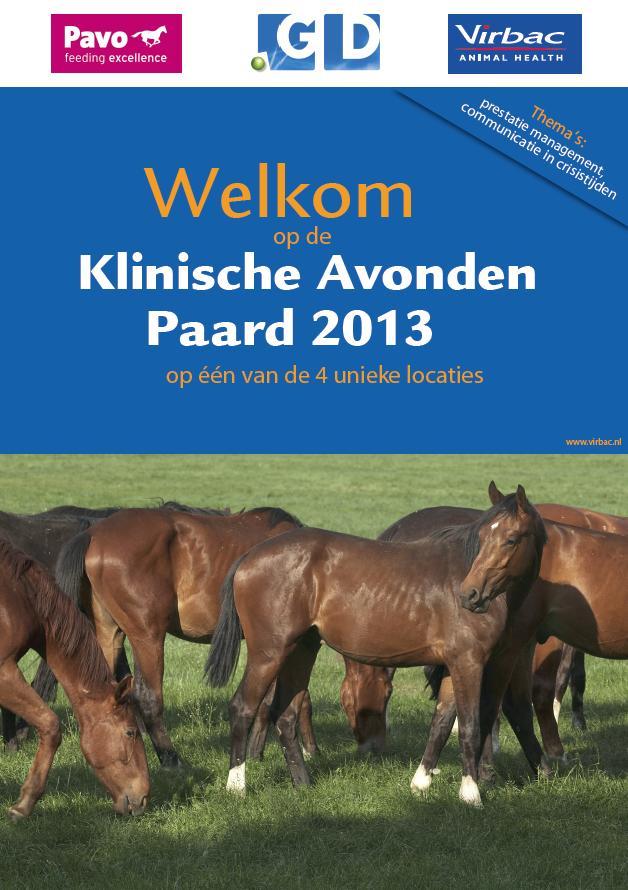 Klinische Avonden Paard 2013