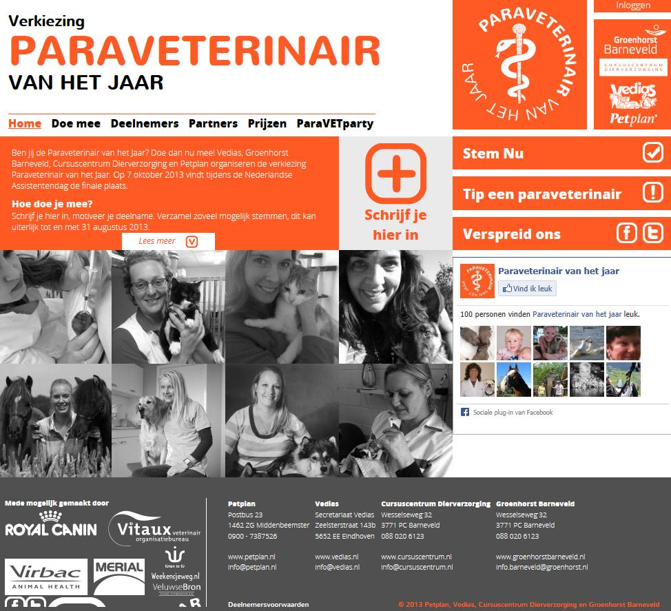 Paraveterianir van het Jaar 2013