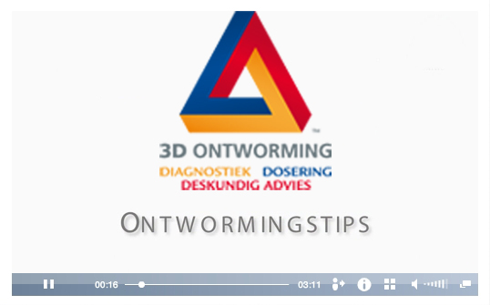 3D Ontworming Paard, ontwormingstips
