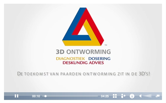 3D Ontworming Paard